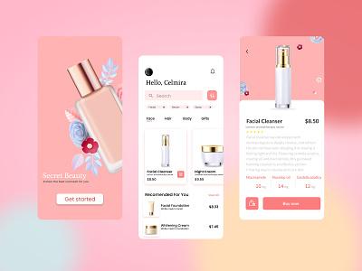 Cosmetic e-commerce app user experience user interface css developer mobile app ios app app interface ui design uiux ui
