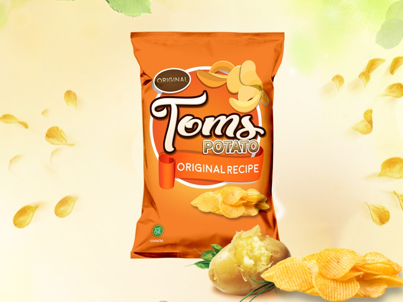 Potato Chips packaging healthyfood packagin snack creative  design food potato chips packagedesign snacks design inspiration
