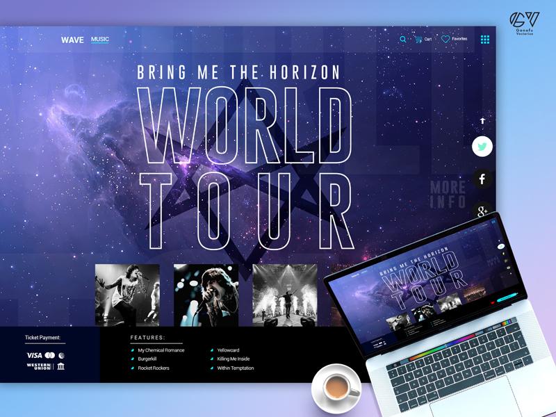 Music Event Landing Page uidesign ux design inspiration creative app design app webdesign web ui app ui