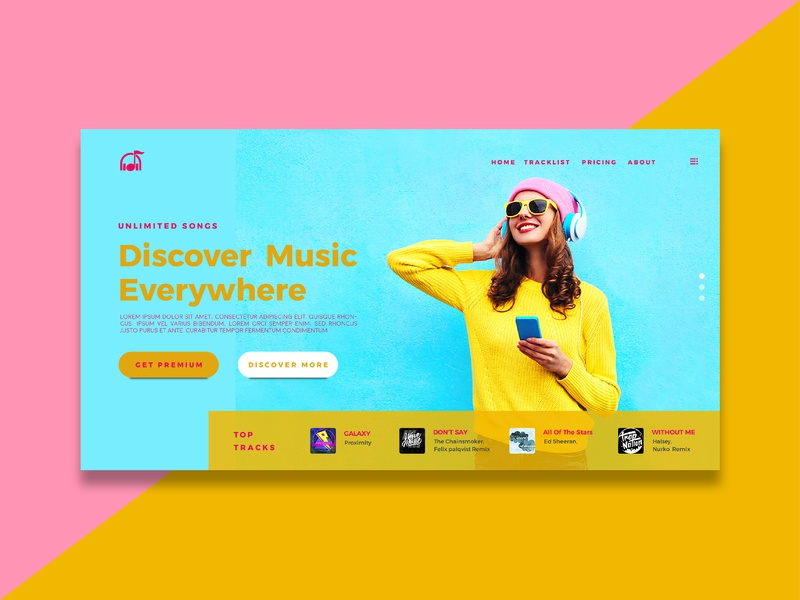 Music Landing Page app ux design creative  design web webdesign creative app uidesign ui app ui design inspiration