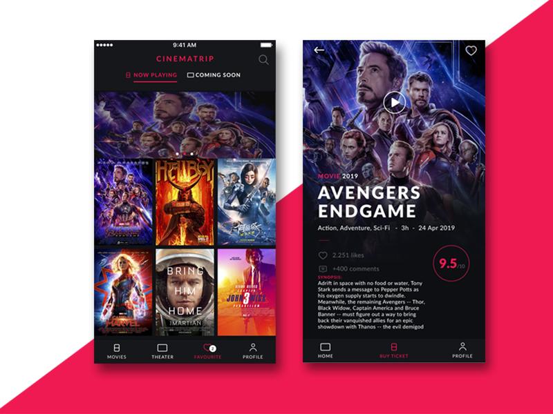 Movie Ticket Interface app design creative  design web ux creative app webdesign uidesign ui app ui design inspiration
