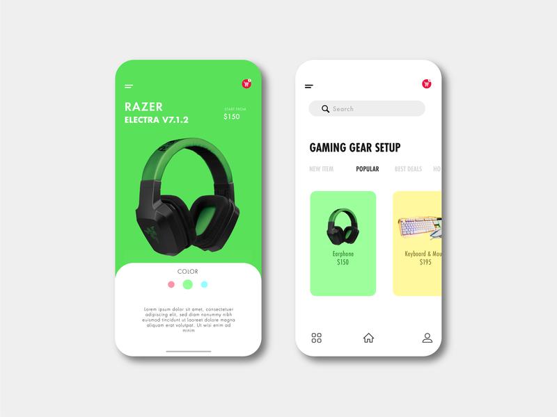 Minimalist Gaming Device typography illustration design creative  design ux app webdesign web uidesign ui app ui creative app design inspiration