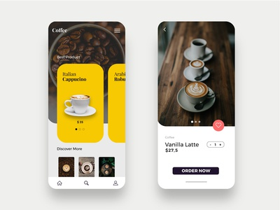 Minimalist Coffee Shop Ui Design