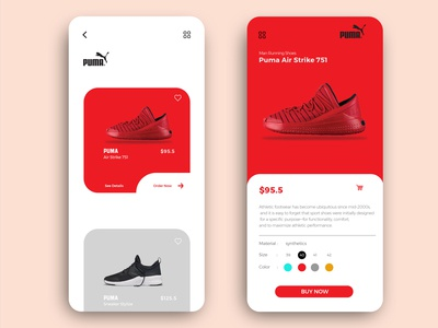 Shoes App Product Page