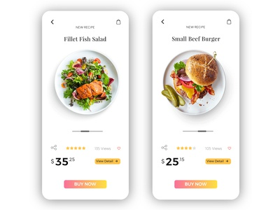 Food App Product Page