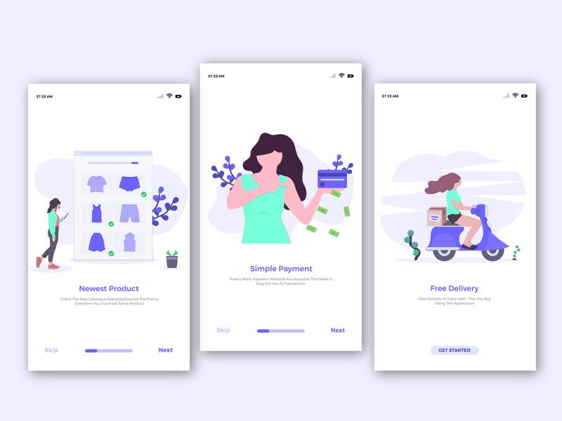 Flat Illustration Welcome Page Mobile App design inspiration creative app ux webdesign web app uidesign ui app ui
