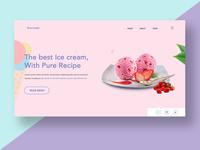 Ice Cream Landing Page