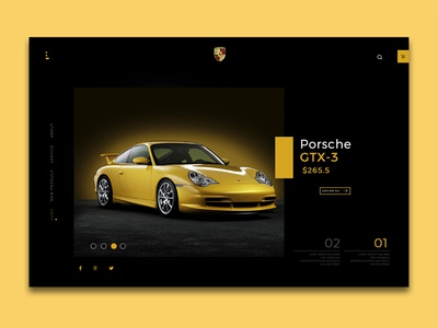 Porsche Car Landing Page