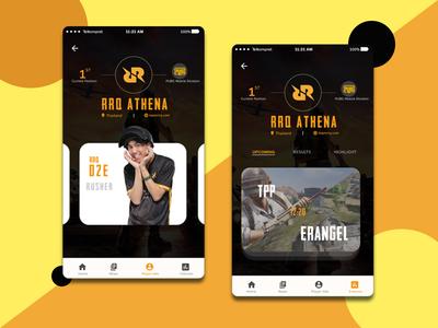 Esports Mobile app concept