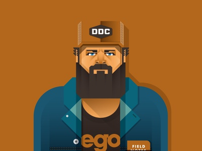 Aaron Draplin design vector illustration