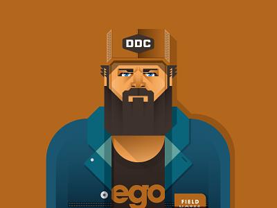 Aaron Draplin design vector illustration