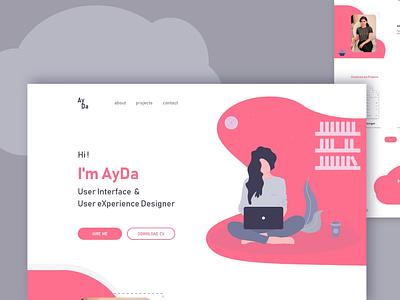 Prtfolio website logo ux ui design illustration ui web design