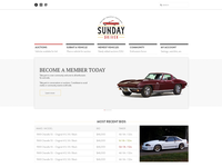 Sunday Driver Auctions - Branding and Web Design