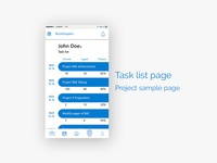 Task list concept page android