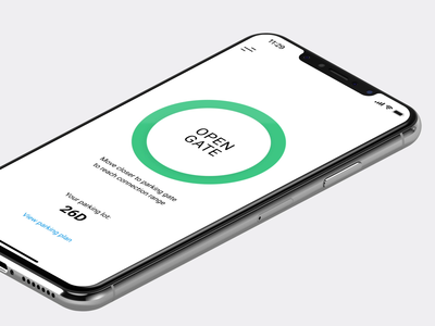 ParkProp mobile app UI figma product design development ronas it interaction animations vehicles gates timer native app automotive parking app mobile ux ui