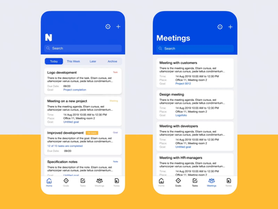 Collaborative Task Management App Design animation interaction ui ux minimalism simple ios meetings goals managment task planning app