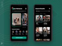 Fitness App Design Concept startup mvp ui ux gym app sport strenght search gym coach training home personal fitness exercise ronas it body app