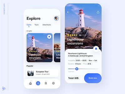 Travel App Design Concept concepts mvp ui ux tourism figma concept trip planner trip travel app traveling travel agency travel mobile app design app