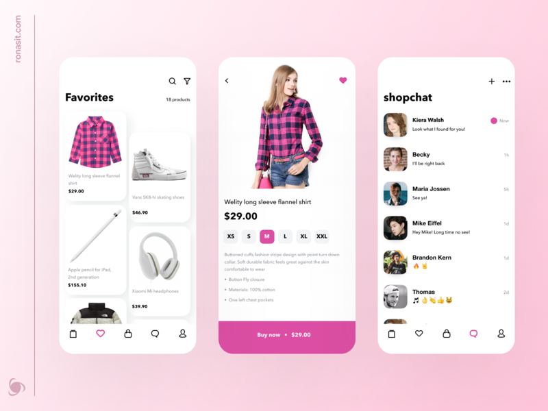 Marketplace App Design Concept super app product mobile ui ux store message chat minimal minimalist fashion buy add to cart app ecommerce online shopping marketplace
