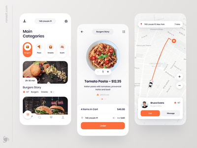 Food Delivery App Design Concept product mvp ux ui ronas it categories location search navigation map mobile app service food delivery app food delivery food app food and drink food app design app