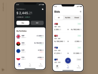 Currency Exchange Mobile App Design Concept mvp mobile ui ux investing investment icons graph ui graphics finance app finance mobile app mobile app design currency converter currency exchange currency ronas it charts app