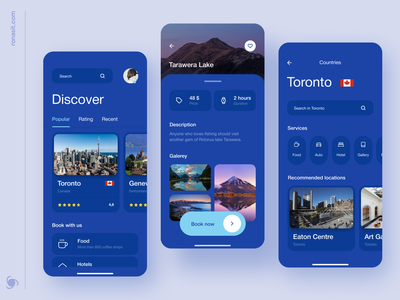 Travel Service Mobile App ronas it mvp ui ux travelling discover tours trips trip travel travel app traveling mobile ui mobile design mobile app design mobile app booking app bookings app design app