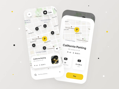 Parking Space Finder Concept mvp ui ux tariff parking lot map navigation car spot automotive vehicle car interaction animation mobile design mobile ui mobile app app design app parking app parking