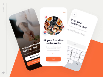 Food Delivery App - Onboarding Animation ronas it mvp ui ux mobile app mobile ui mobile onboarding screen onboarding ui onboarding food delivery service food delivery application food delivery app food delivery food app food and drink food app design app animation