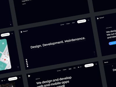 Ronas IT - New Website typography logo design video animation interaction agency website agency portfolio website web design ronas it ui ux studio