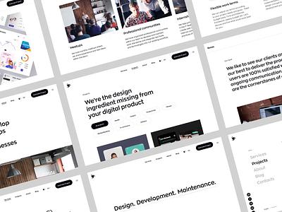 Our New Website | Ronas IT animation dark theme dark ui branding portfolio website agency website logo web design ronas it mvp ui ux