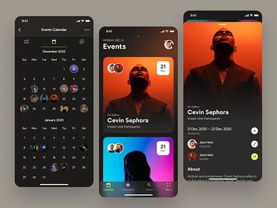 Event App Design Concept schedule mobile app ui ux ronas it icons calendar graphics app ios event ticket meetup mobile conference festival concert entertainment user experience