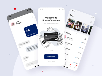 Bank of America | Online Banking Mobile App Concept ui ux app mvp ronas it mobile app app design animation mobile app design mobile ui redesign bank of america fintech app fintech finances finance app bank card banking app banking bank