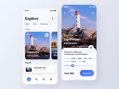 Travel App | User Flow Animation mvp ronas it design ui ux minimal app animation travel trip traveling travel app vacation clean ios tourism tours mobile ticket city