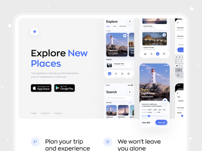 Travel Agency Website ux tripped travel traveling travelling trip dribbble best shot adventure flight hotel booking travel agency travel service trips trip planner vacation tourism web web app website