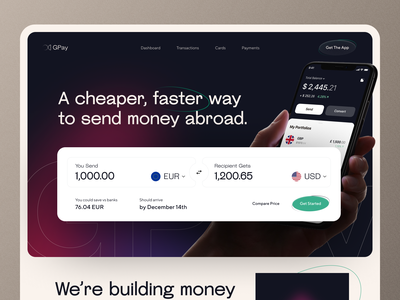 Currency Exchange Landing Page app ronas it currency website design website currency exchange currency converter finance finance app investment investing landing page web web design ui ux mvp