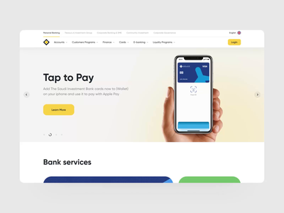 The Saudi Investment Bank - Landing Page Animation bank banking finance bank card finances fintech investment landing page landingpage saudi investment bank saudi investment bank redesign mvp web design ux ui ronas it web animation