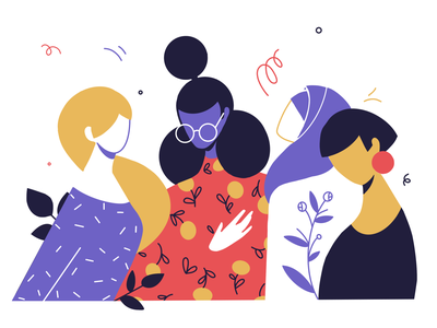 International Women's Day Illustration design animation app design web design international womens day international woman illustration branding girl flat woman ronas it ui ux illustration