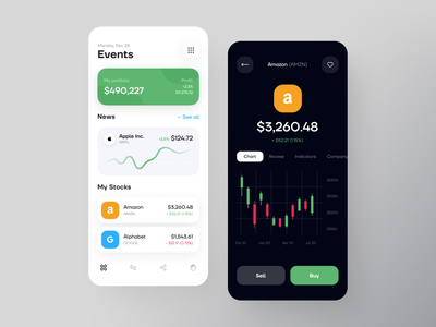 Investment Bank Mobile App sell buy graphs banking app mobile bank banking bank investment app investment invest mobile ui mobile mobile app design app design mobile app app mvp ronas it ui ux