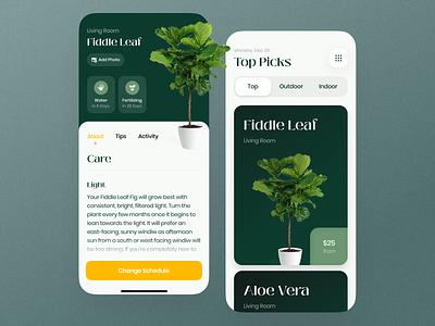 Vera Plant Growing App - Redesign ecommerce store growing app growing app ronas it app design mobile app app light plant growbox indoor planting eco ui ux green flower garden stats