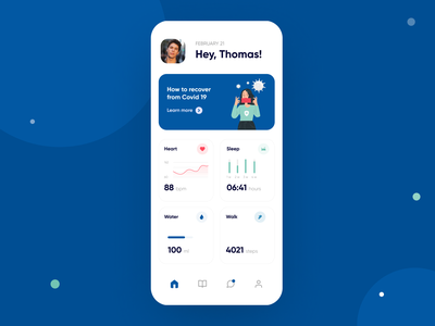 Healthcare Chat Bot homepage profile covid chat bot chatbot chat app chat diary medicine dashboard healthcare health mobile app design app design mobile app app mvp ronas it ui ux