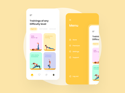 Workout Mobile App workout ui ux app interface minimal clean mobile ios design training fitness exercise gym wellness activity tracker sport health trainer