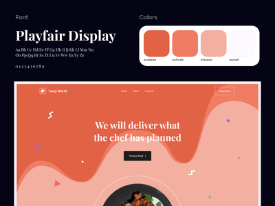 Food Delivery Landing Page landing page homepage ecommerce web design mockup ronas it ui ux typography website design food restaurant food delivery food delivery service food delivery website snacks food and drink stayhome food delivery application foodie