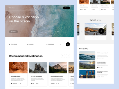 Travel Agency Website ui ux clean ui-ux product design user experience travel travel website adventure booking website travel agency website travel app traveling adventures filter search landing page website design
