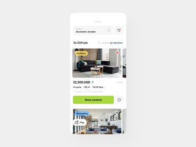 Real Estate App home home rent house house rent app mobile app design mobile app real estate rent app rent home rent app app ui ux uiux realestate real estate app clean ui minimal mobile property