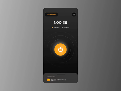 VPN App Animation ios app mvp ronas it mobile app animation motion graphics branding vpn ui minimal uiux clean design proxy privacy connection vpn app