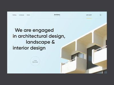Architecture Company Website landing landing page frontpage front page website site company website portfolio web design web design mvp ronas it ux ui