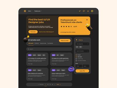 Freelance Marketplace Website platform hiring hire search talent freelance marketplace website web design mvp ronas it ux ui