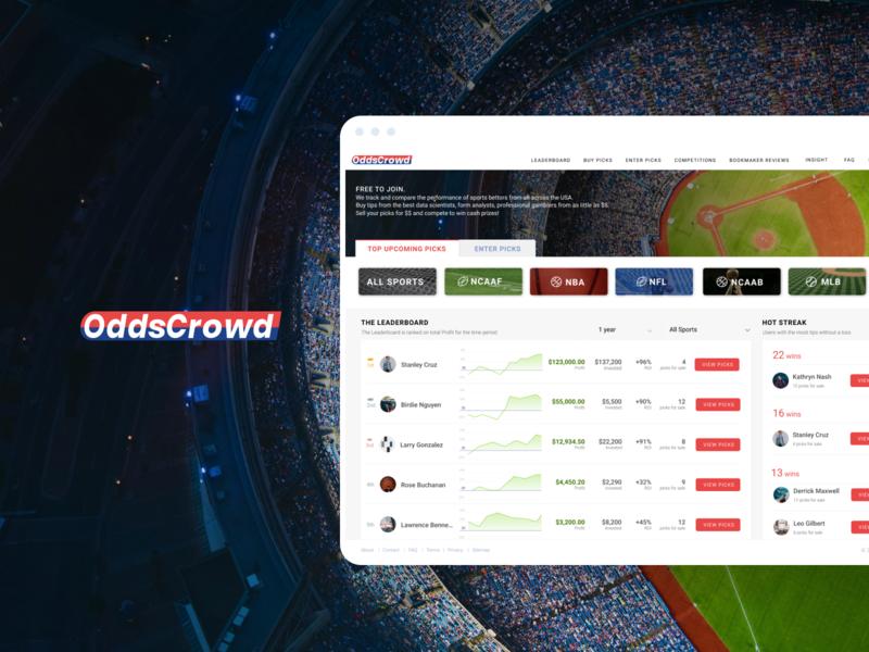 OddsCrowd | Sports betting marketplace gambling cybersport data graphs marketplace betting sports betting web design ux ui