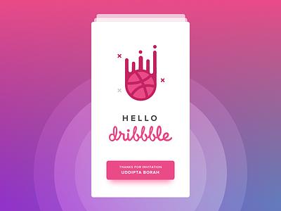 Hello Dribbble !!! imagine peru invite ui app ux design first