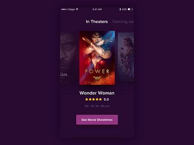 Movie Showtimes ticket cinema showtimes theater service perú design app movie ux